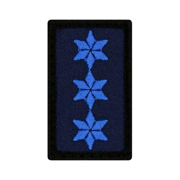 Polizeiobermeister Mini Dienstgradabzeichen Patch (POM)