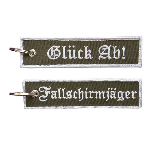 Fallschirmjäger Glück Ab - Schlüsselanhänger