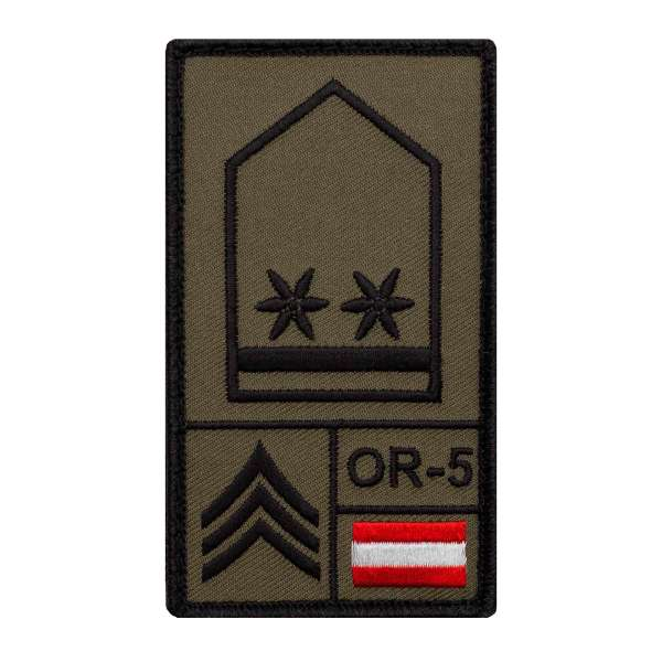 Oberwachtmeister Bundesheer Rank Patch