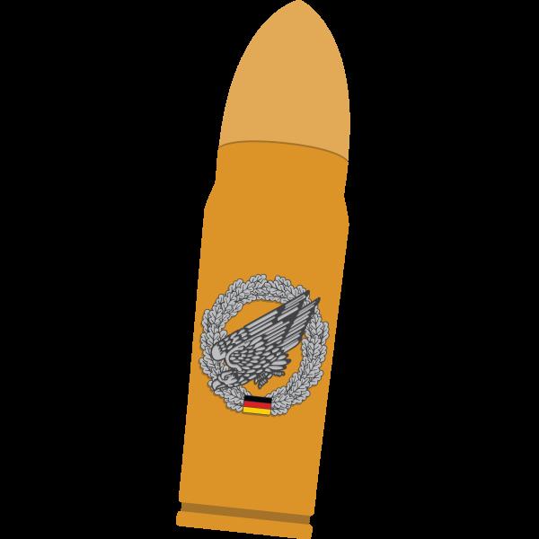 Thermosflasche Patronenoptik mit Barettabzeichen