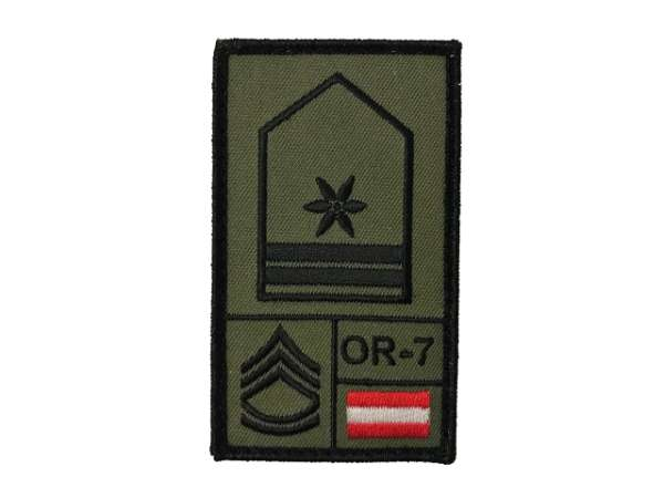 Stabswachtmeister Bundesheer Rank Patch