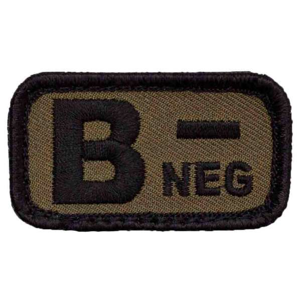 Blutgruppe B- Patch