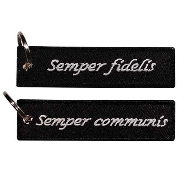 Semper fidelis - Semper communis - Schlüsselanhänger