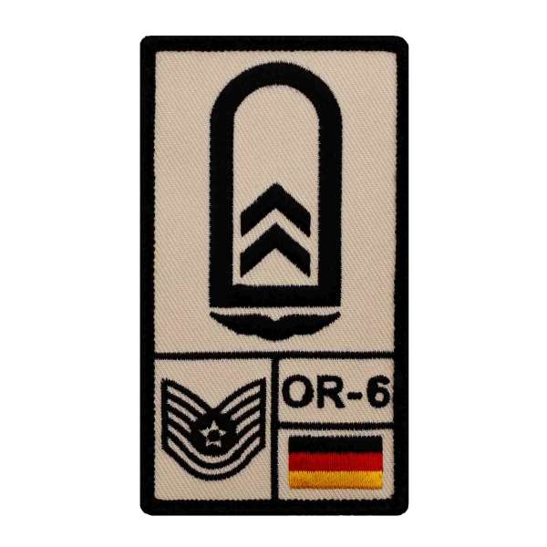 Oberfeldwebel Luftwaffe Rank Patch