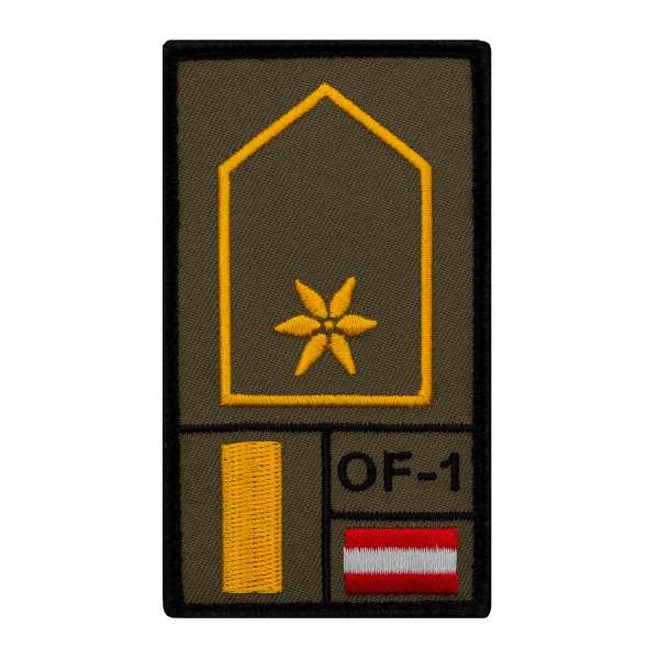 Leutnant Bundesheer Rank Patch