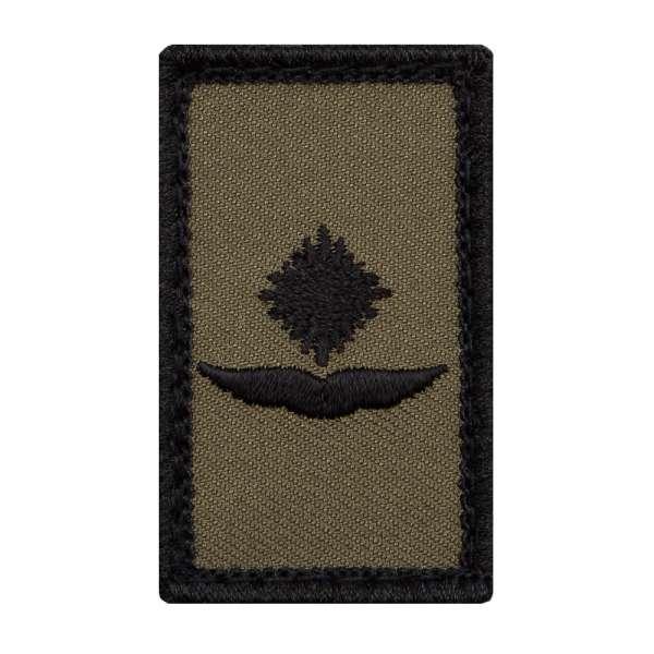 Leutnant Luftwaffe Mini Dienstgradabzeichen Patch