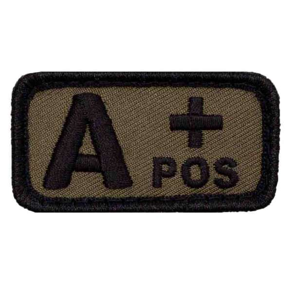 Blutgruppe A+ Patch