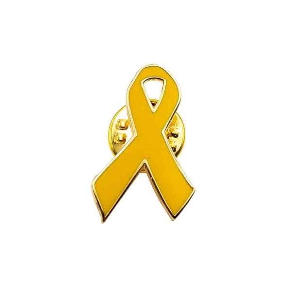 gelbe Schleife Pin