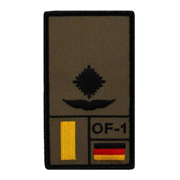 Leutnant Luftwaffe Rank Patch
