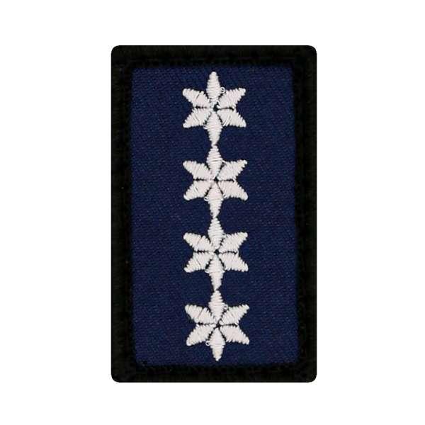 Polizeihauptkommissar mit Zulage Mini Dienstgradabzeichen Patch (PHKZ)