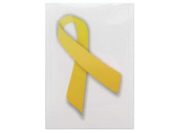 Gelbe Schleife Aufkleber