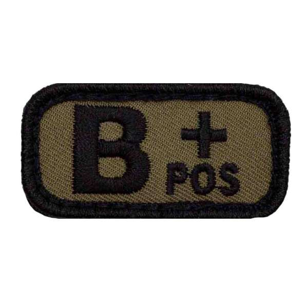 Blutgruppe B+ Patch