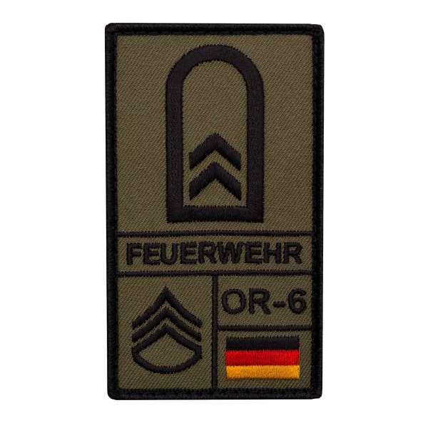 Bundeswehr Feuerwehr Rank Patch mit Klett (div. Dienstgrade)