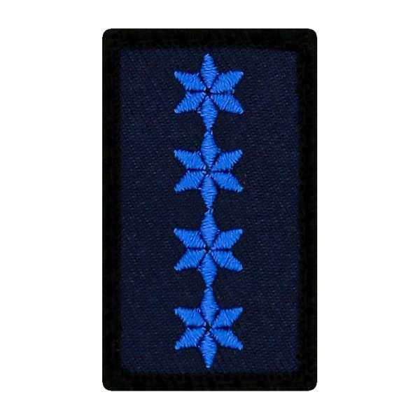Polizeihauptmeister Mini Dienstgradabzeichen Patch (PHM)