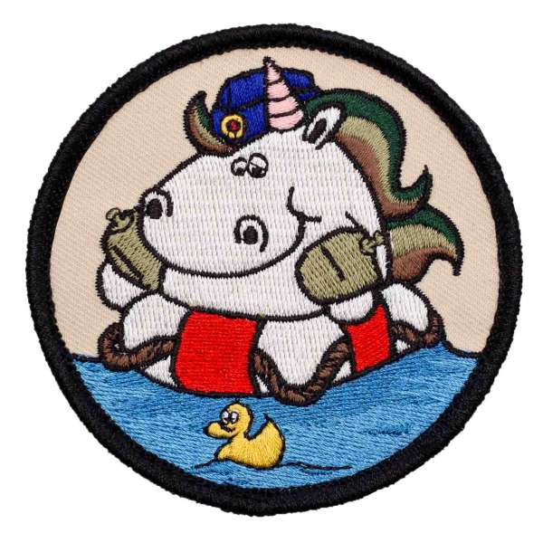 Marine-Einhorn Patch