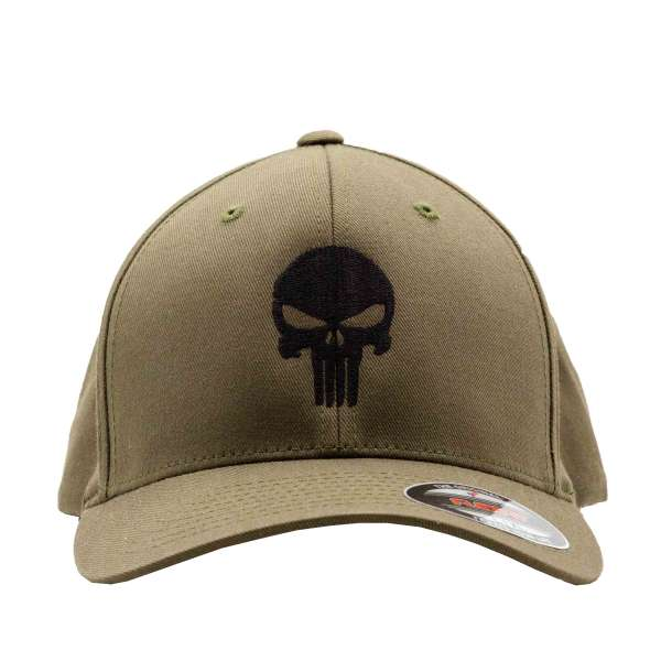 Original FLEXFIT Cap Punisher schwarz bestickt