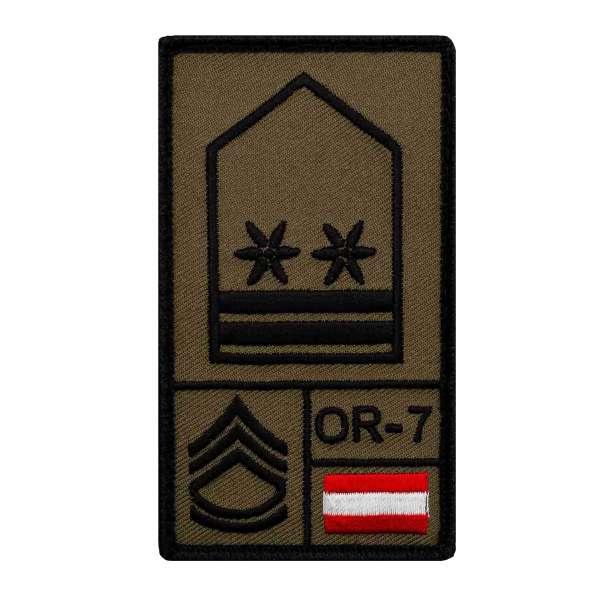 Oberstabswachtmeister Bundesheer Rank Patch