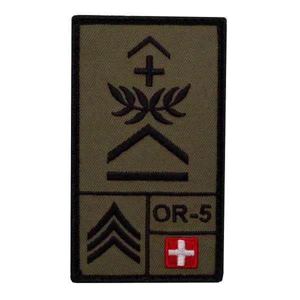 Oberwachtmeister Schweiz Rank Patch