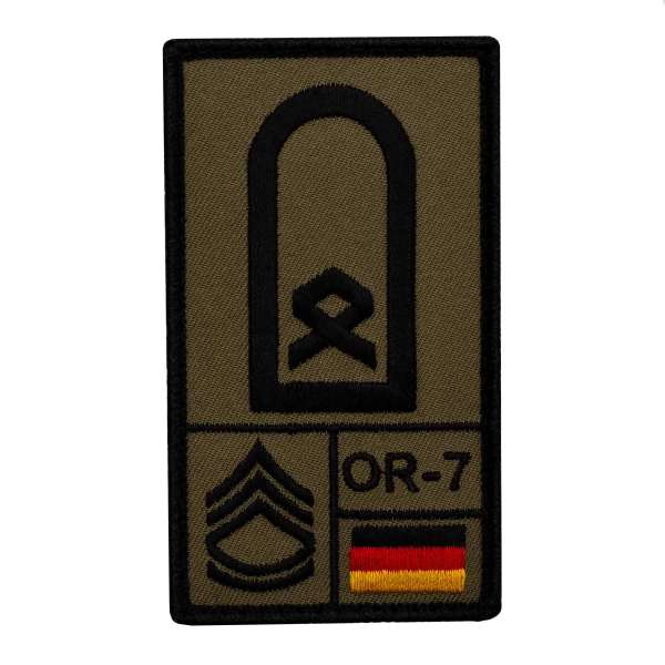 Hauptfeldwebel Rank Patch