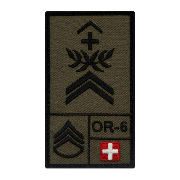 Feldweibel Schweiz Rank Patch