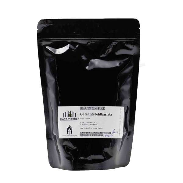 Gefechtsfeldbarista Kaffee ganze Bohnen 250gr
