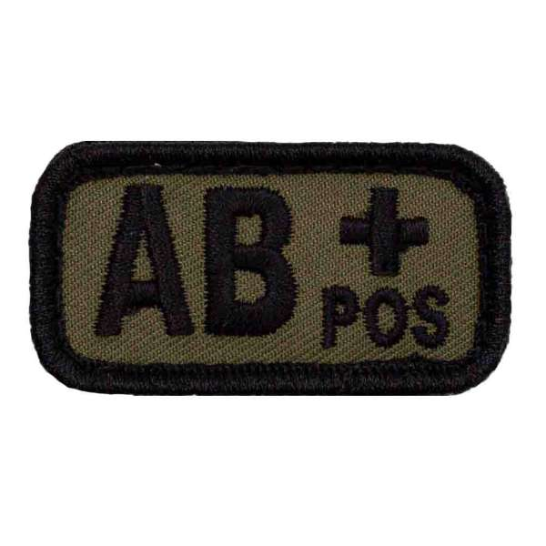 Blutgruppe AB+ Patch