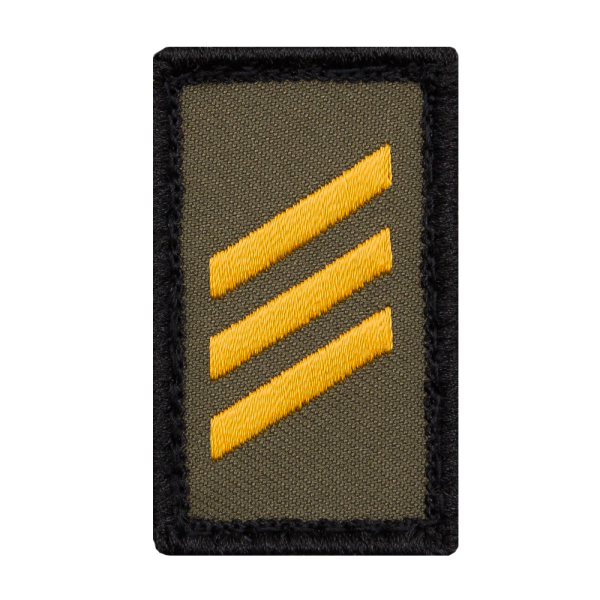 Hauptgefreiter Marine Mini Dienstgradabzeichen Patch