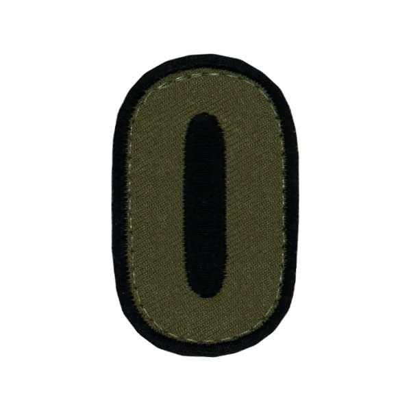 taktisches Nummern Patch oliv & sand