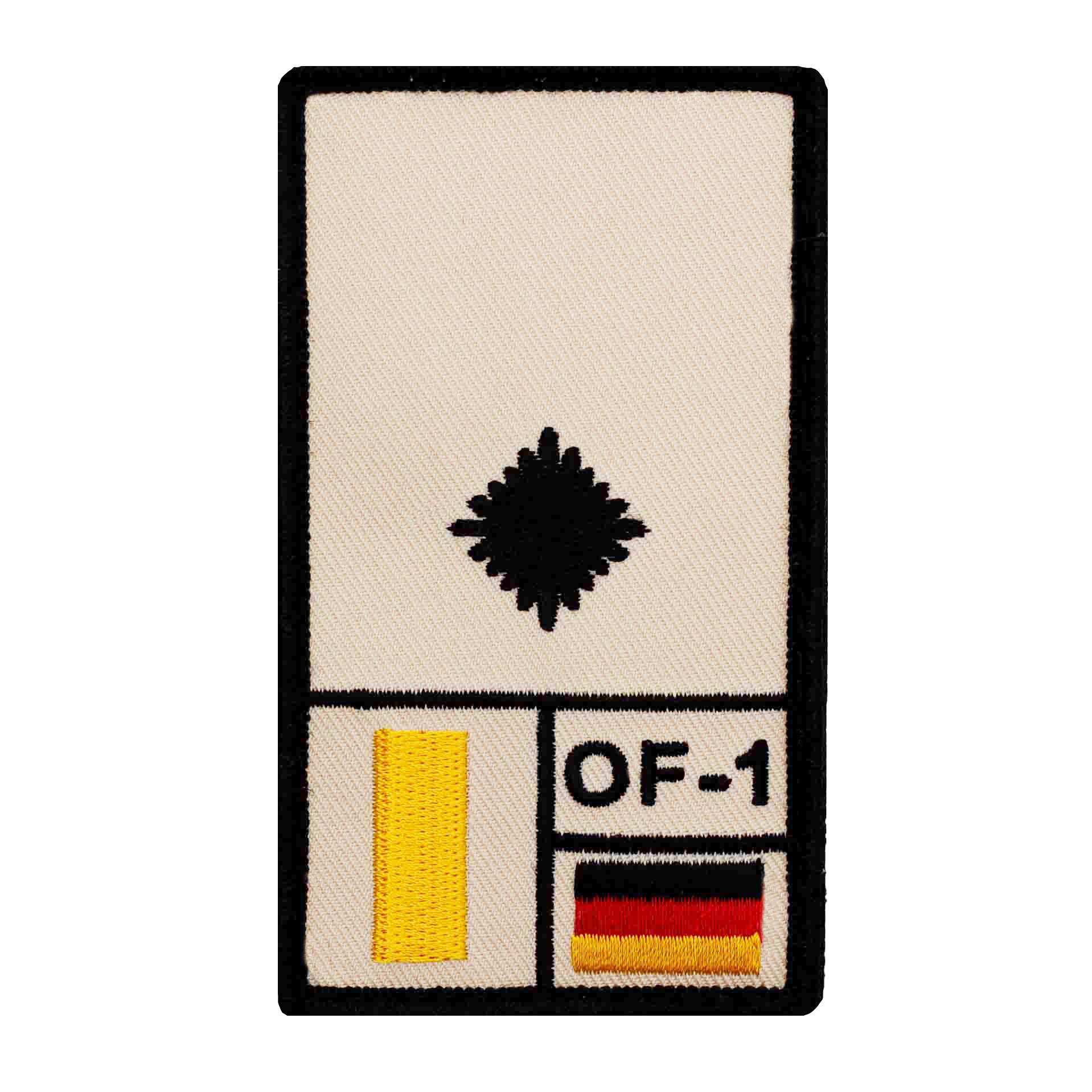 Café Viereck Rank Patch Stabsunteroffizier sand Rangabzeichen mit Klett