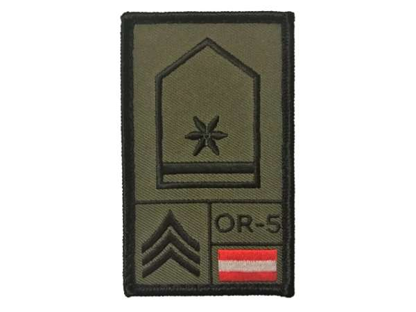 Wachtmeister Bundesheer Rank Patch