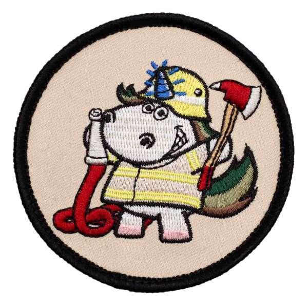 Feuerwehr Einhorn Patch