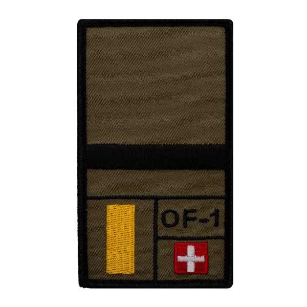 Leutnant Schweiz Rank Patch