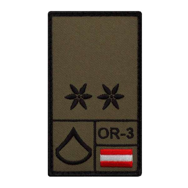 Korporal Bundesheer Rank Patch