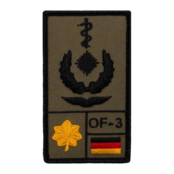 Oberstabsarzt Luftwaffe Rank Patch